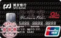 浦發銀行標準IC信用卡 白金卡(銀聯)