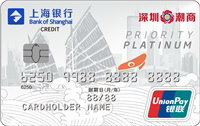 上海銀行潮汕商會匯金主題信用卡 白金卡