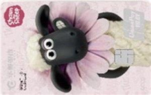 華夏小羊肖恩親子信用卡(金卡)-粉
