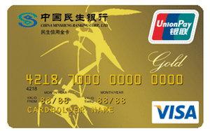 民生銀行標準雙幣信用卡 金卡(銀聯+VISA)