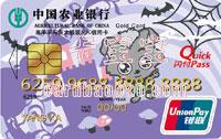 農業銀行喜羊羊與灰太狼聯名IC信用卡 小灰灰金卡