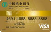 農業銀行全球支付芯片卡 金卡(VISA)