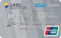 上海銀行紅星美凱龍Mstyle聯名信用卡