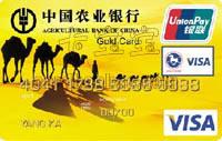 農業銀行東方神韻國際旅游卡 黃色